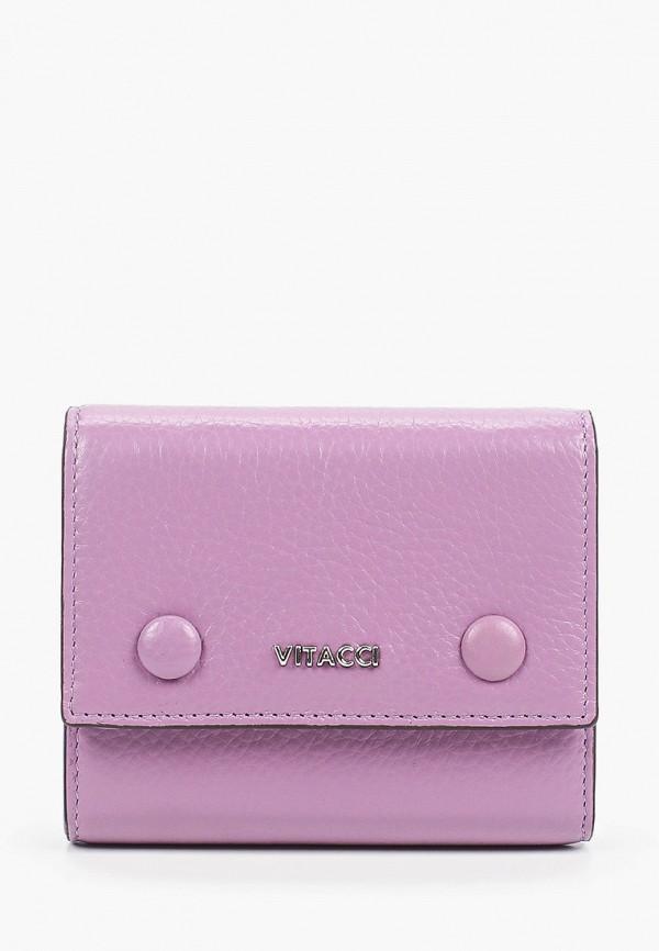 женский кошелёк vitacci, фиолетовый