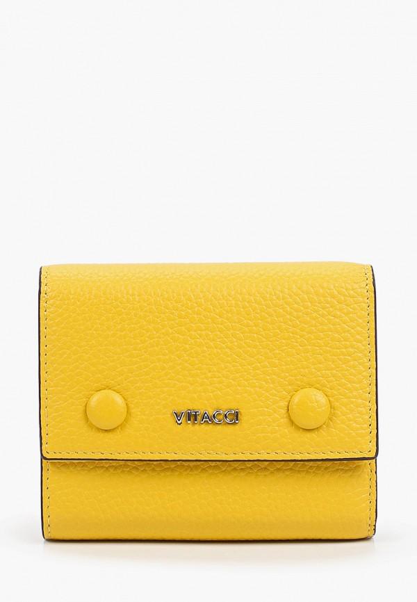 женский кошелёк vitacci, желтый