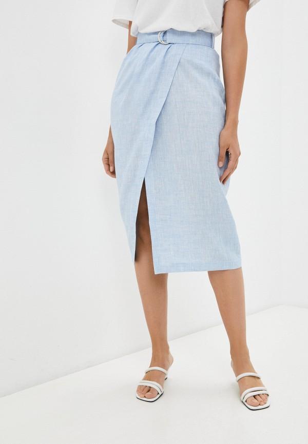 женская прямые юбка j-splash, голубая