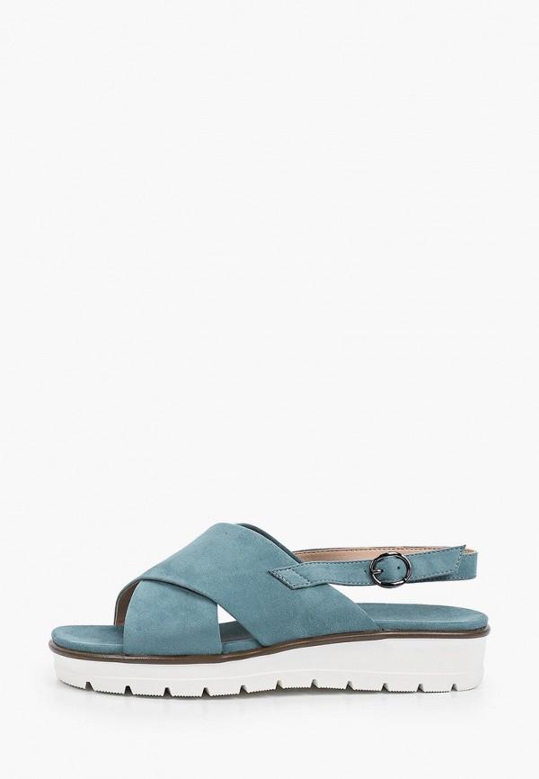женские сандалии zenden, бирюзовые