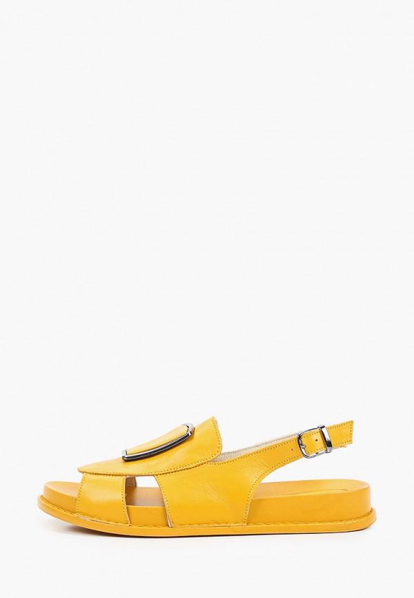 Сандалии Ascalini желтого цвета