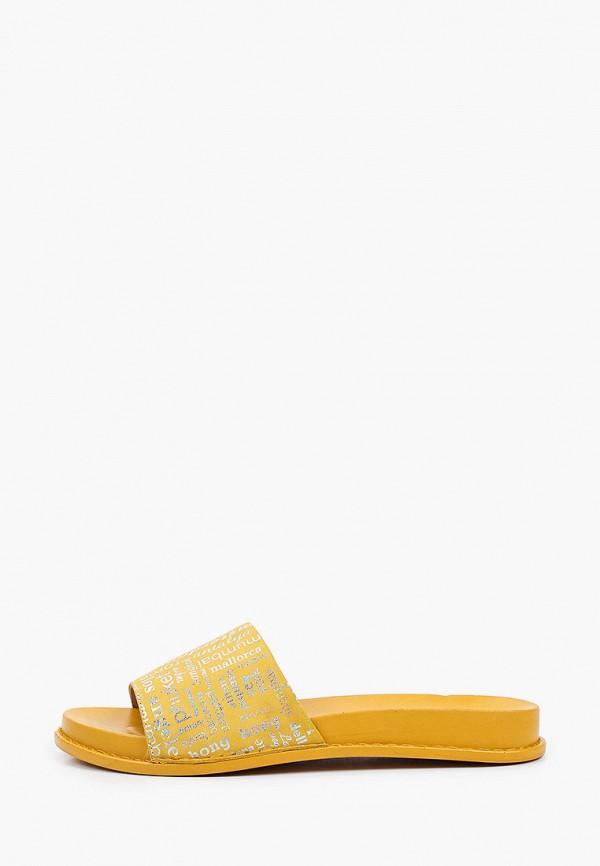 женское сабо ascalini, желтое