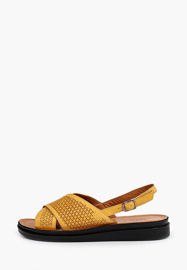 женские сандалии ascalini, желтые