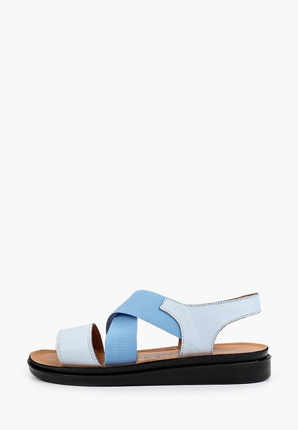 женские сандалии ascalini, голубые