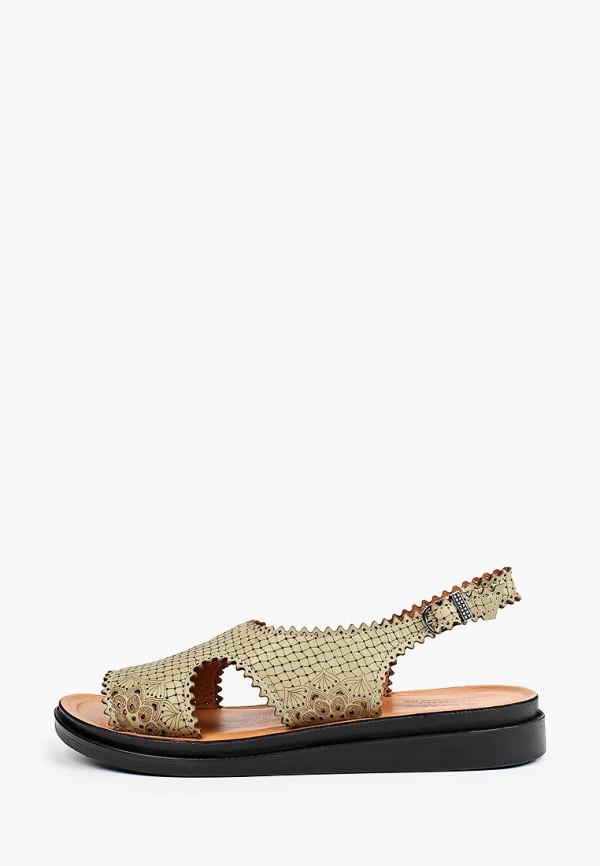 женские сандалии ascalini, хаки