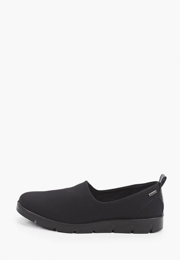 женские низкие кроссовки ecco, черные