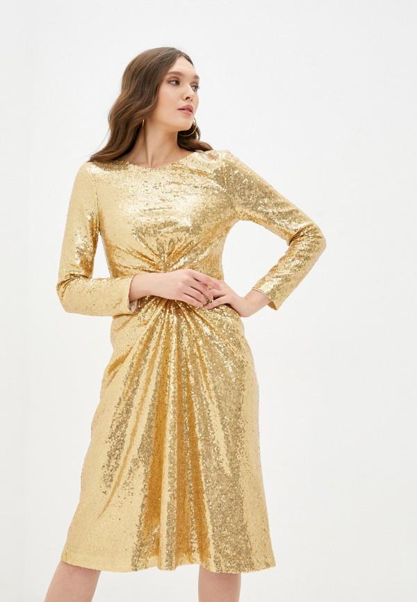 женское вечерние платье luvine, золотое