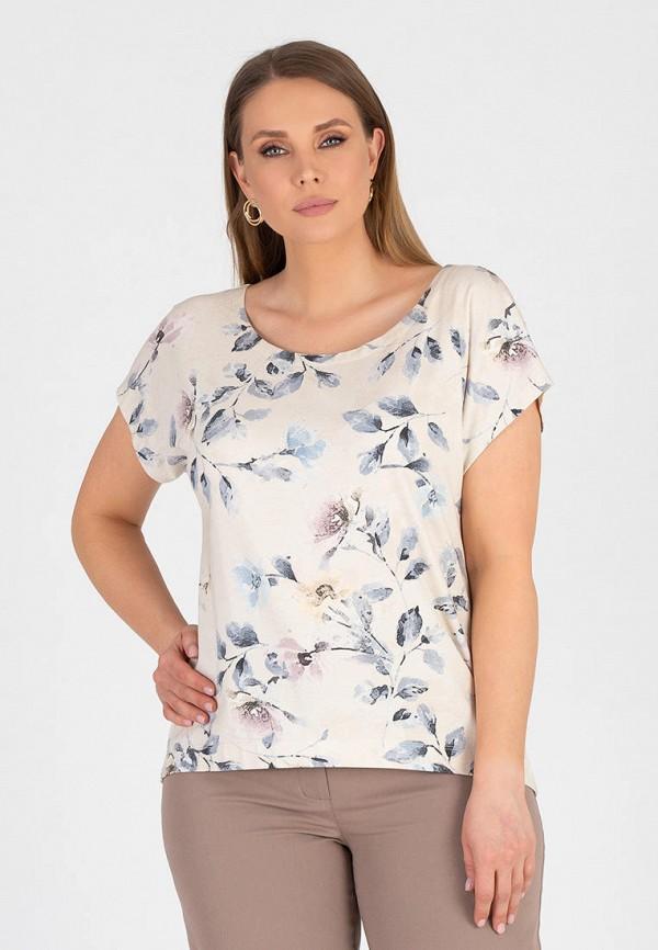 женская блузка с коротким рукавом eliseeva olesya, бежевая
