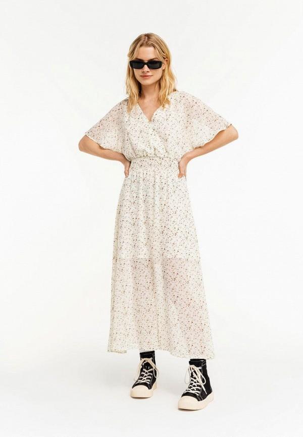 Платье Befree белого цвета