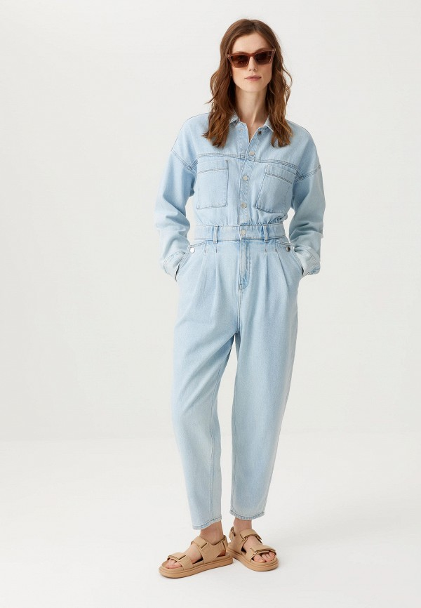 женский джинсовые комбинезон sela, голубой