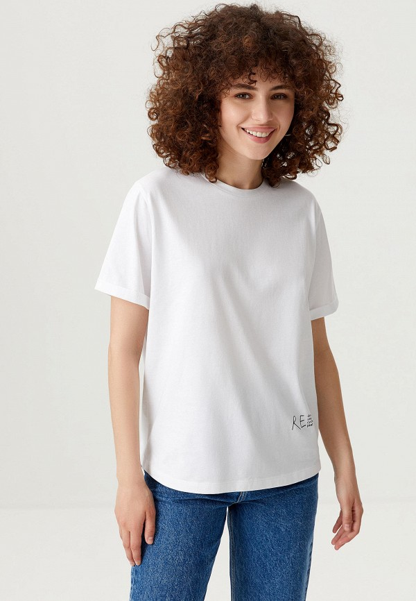 женская футболка sela, белая