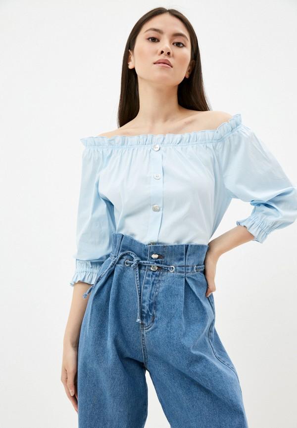женская блузка vittoria vicci, голубая