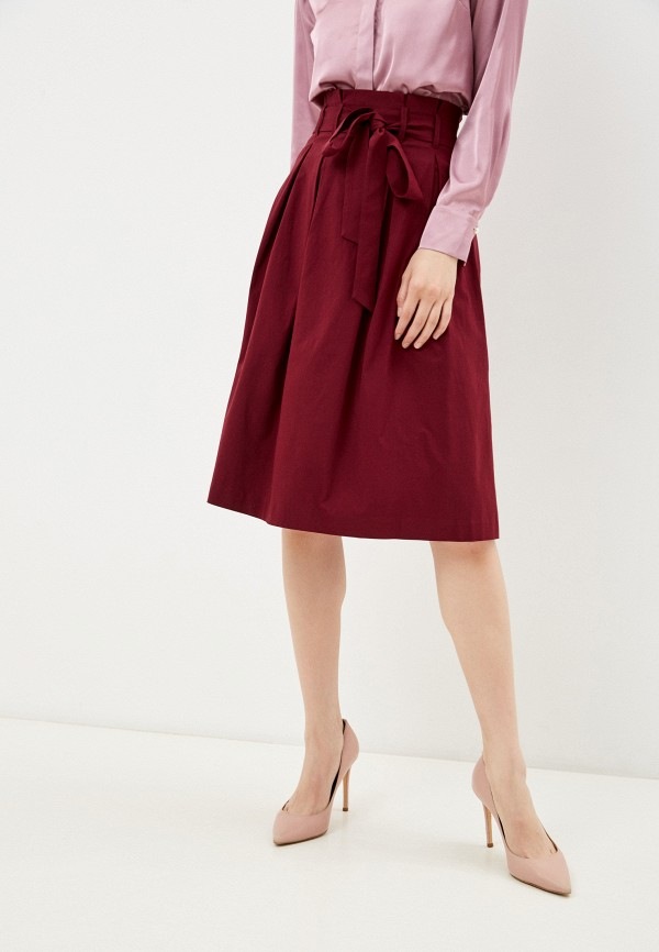 женская юбка-трапеции vittoria vicci, бордовая