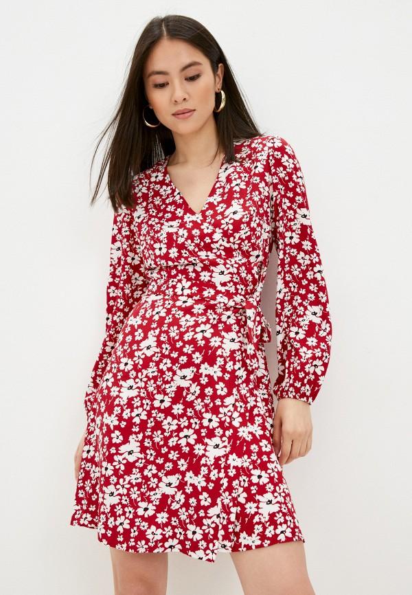 женское платье с запахом vittoria vicci, красное
