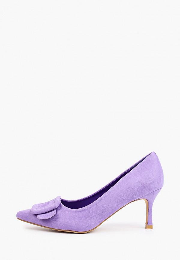 женские туфли-лодочки араз, фиолетовые
