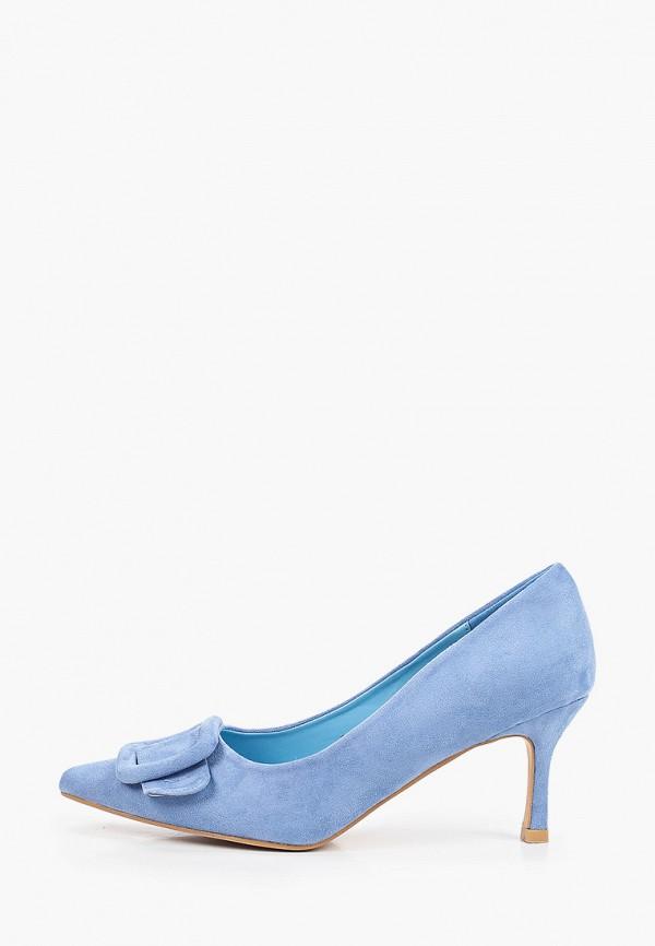женские туфли-лодочки араз, голубые