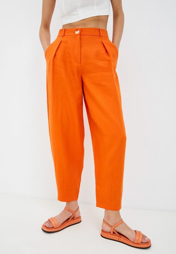 женские зауженные брюки ummami, оранжевые