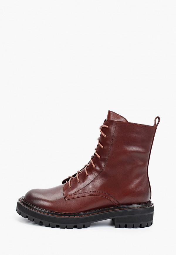 женские высокие ботинки milana, коричневые