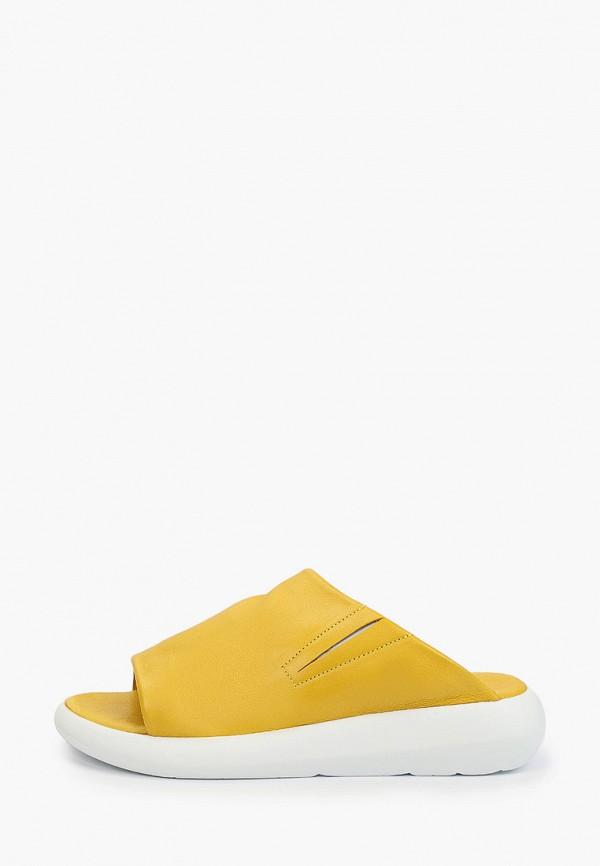 женское сабо milana, желтое