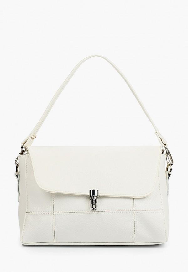 женская сумка с ручками медведково, белая