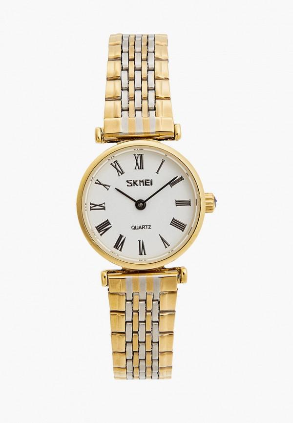 женские часы skmei, золотые