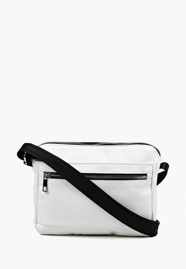 женская сумка через плечо медведково, белая