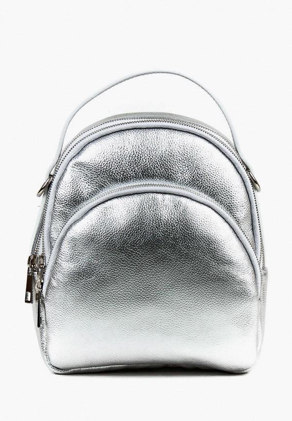 женский рюкзак медведково, серебряный