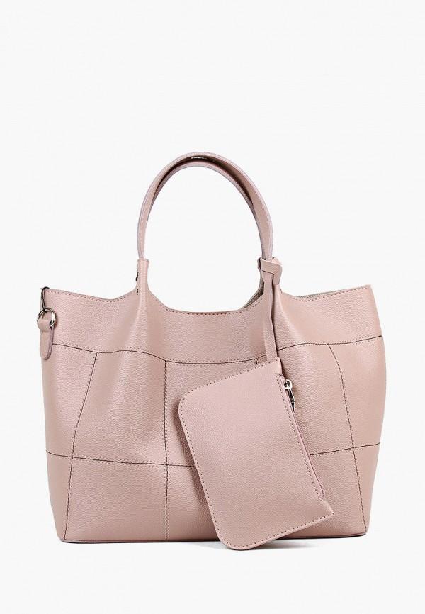 женский кошелёк с ручками медведково, розовый