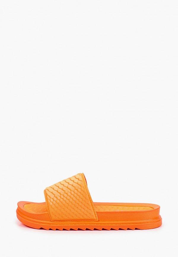 женское сабо glamforever, оранжевое