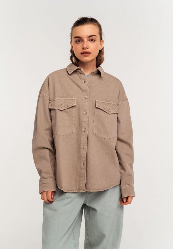 женская джинсовые рубашка befree, бежевая