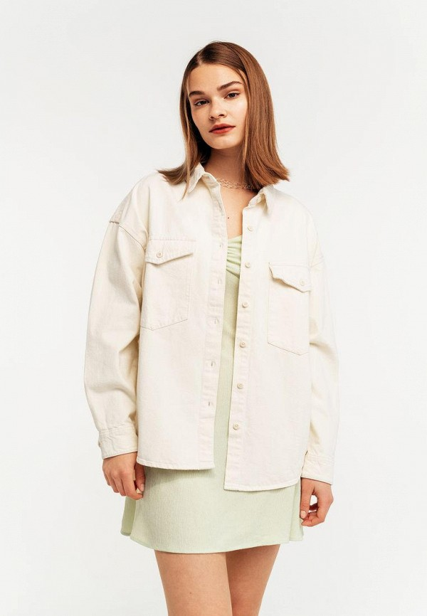 женская джинсовые рубашка befree, белая
