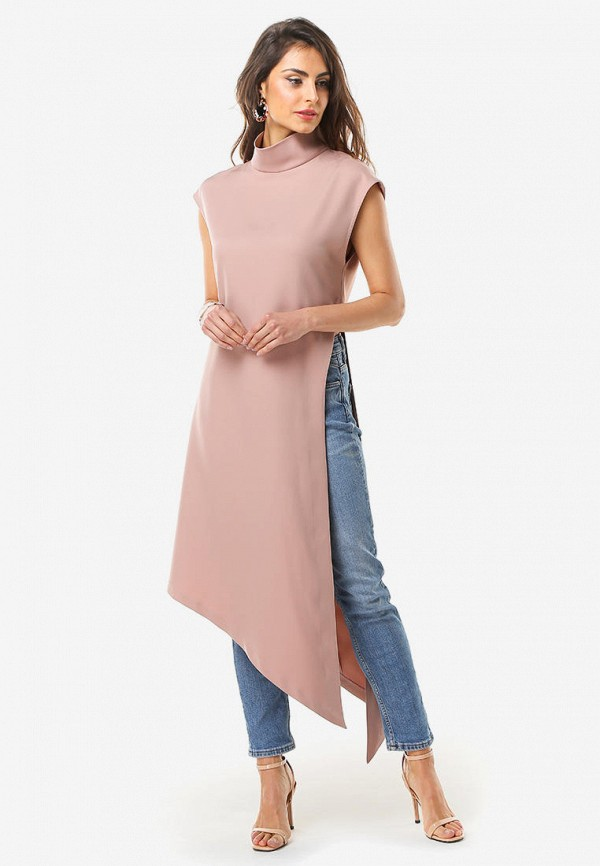 женская туника arefeva, розовая
