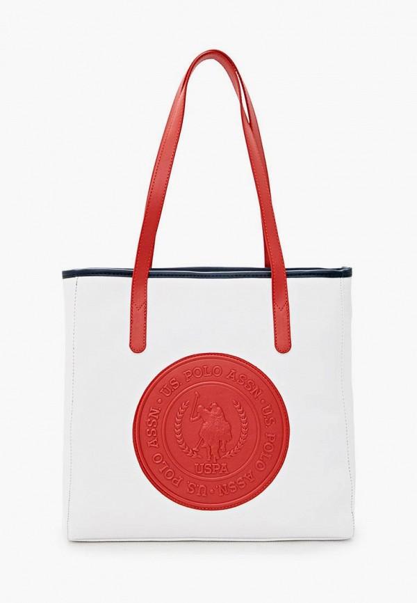 женская сумка u.s. polo assn, белая