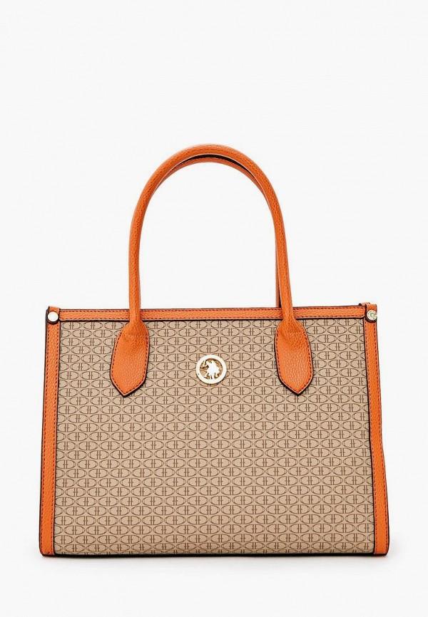 женская сумка u.s. polo assn, бежевая