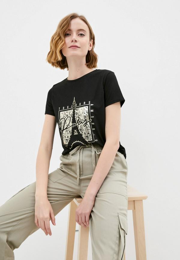 женская футболка savage, черная