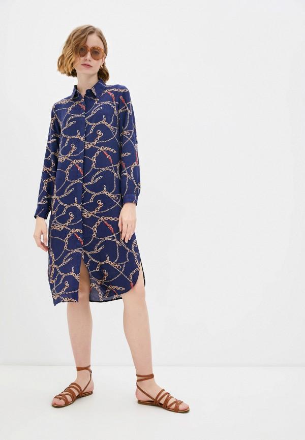женское платье-рубашки savage, синее
