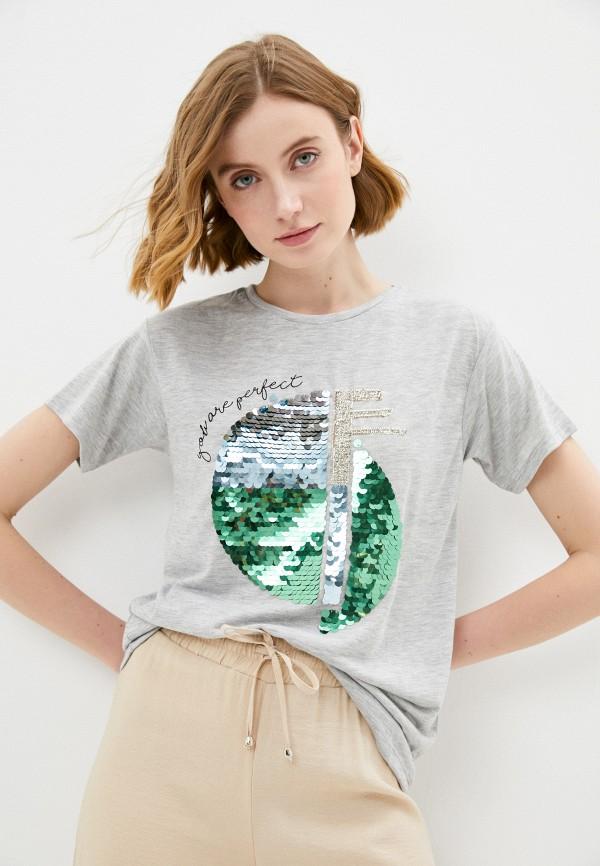 женская футболка savage, серая