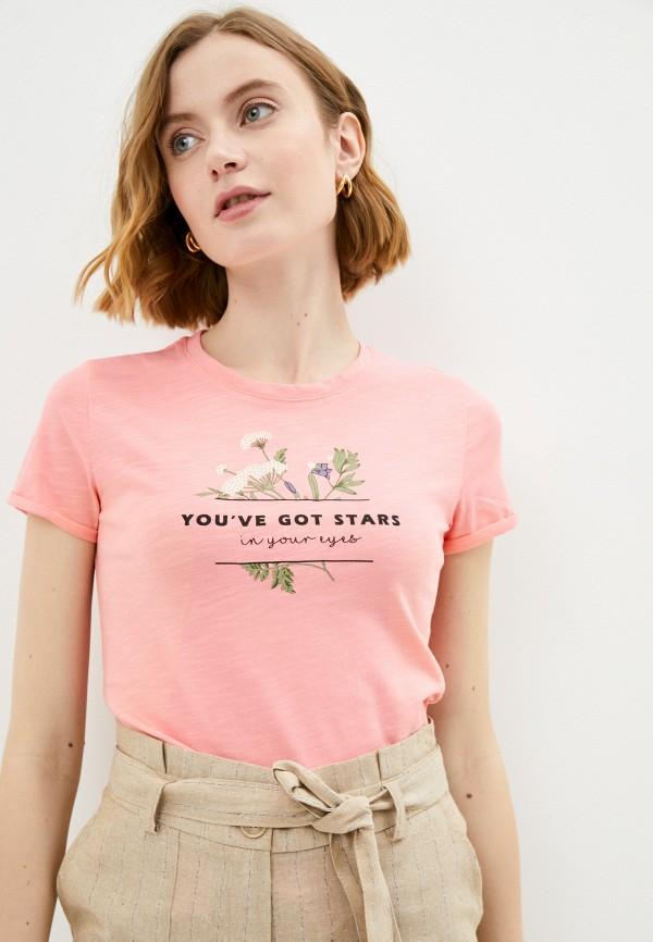 женская футболка savage, розовая