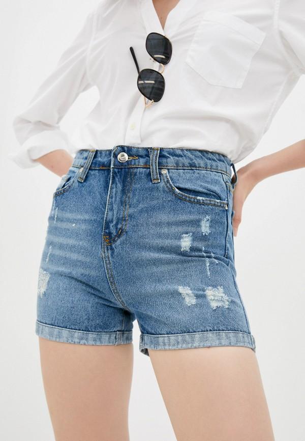 женские джинсовые шорты savage, синие