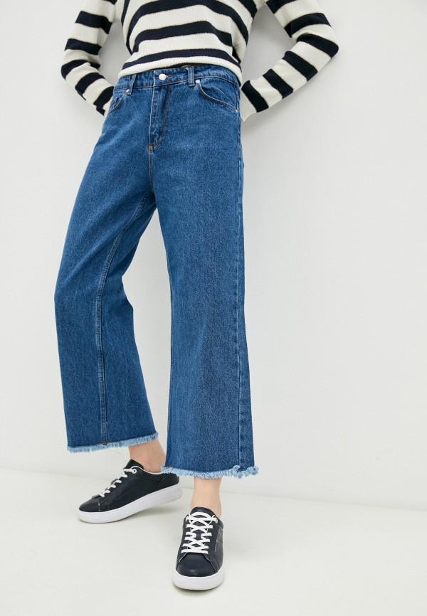 женские джинсы клеш savage, синие
