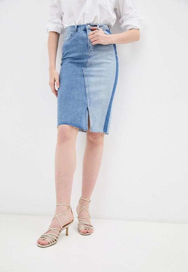 женская джинсовые юбка savage, голубая