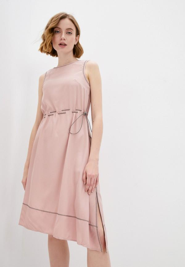 женское повседневные платье savage, розовое