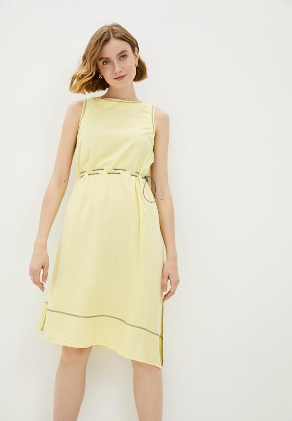 женское повседневные платье savage, желтое