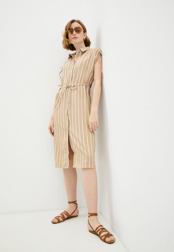 женское платье-рубашки savage, бежевое