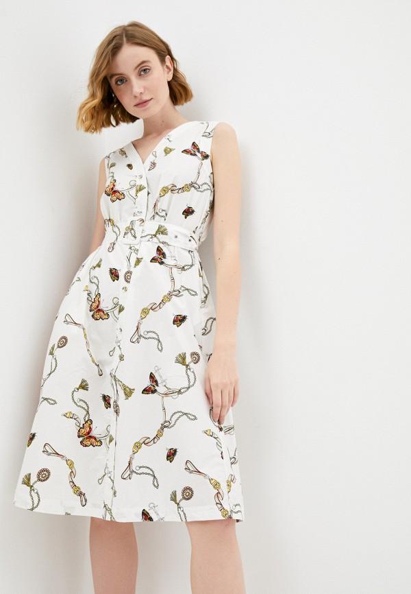женское повседневные платье savage, белое