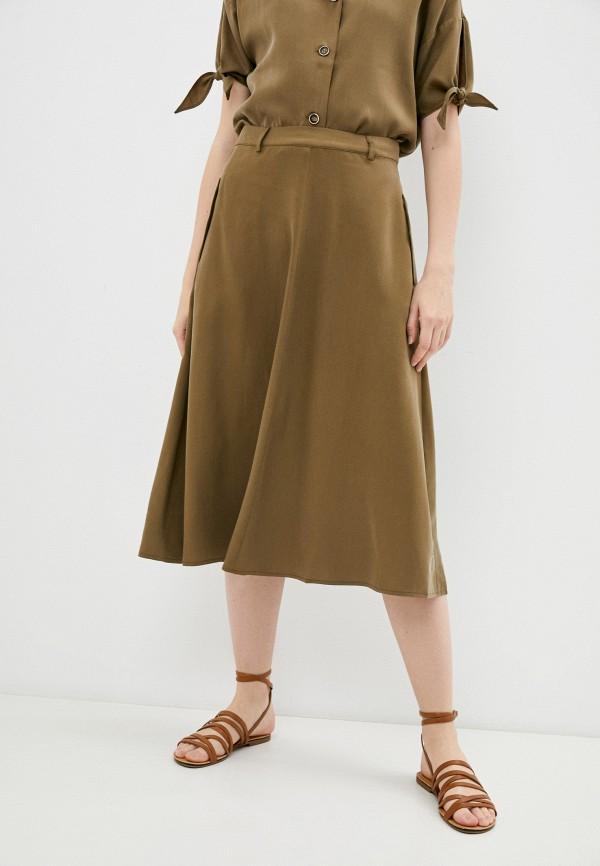 женская юбка-трапеции savage, коричневая