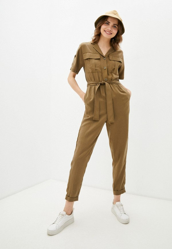 женский комбинезон с брюками savage, коричневый