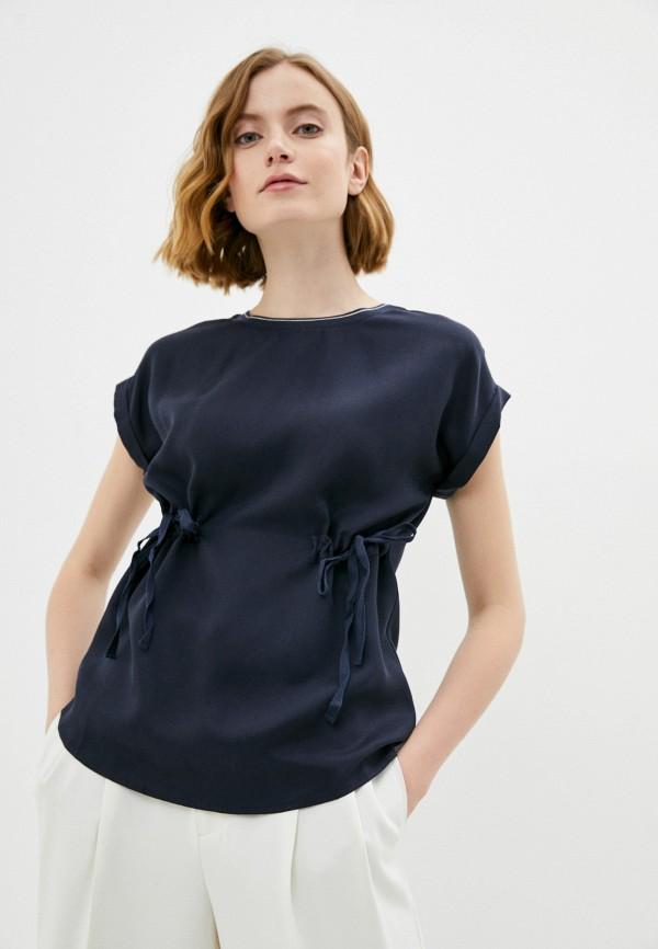 женская блузка с коротким рукавом savage, синяя