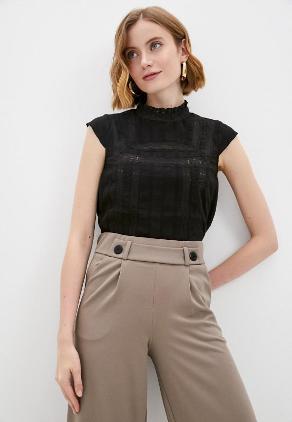 женская блузка с коротким рукавом savage, черная
