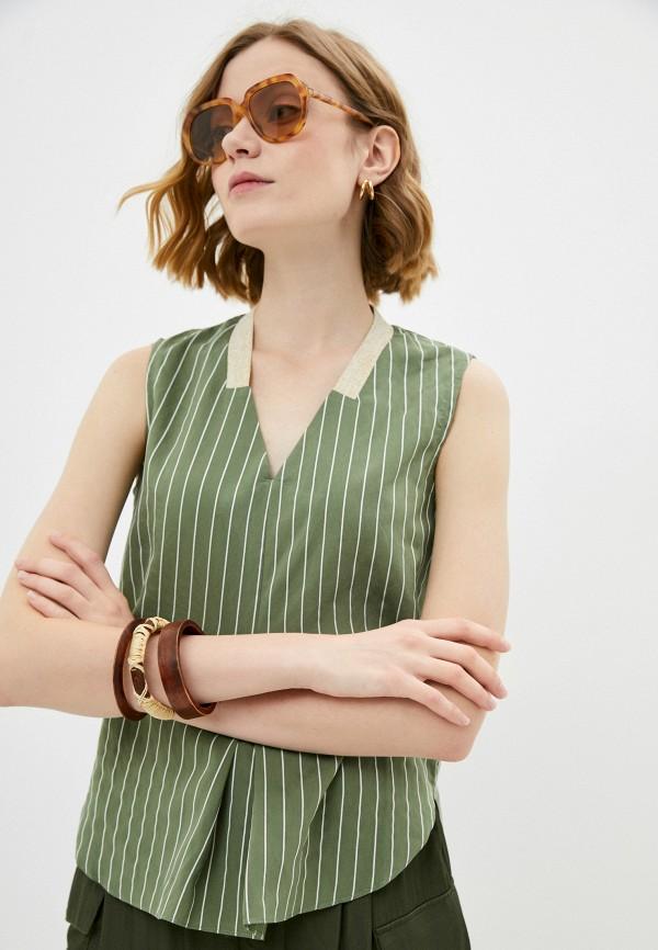 женский топ savage, зеленый